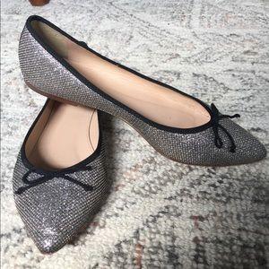 JCrew Metallic Ballet Flats Size 7.5